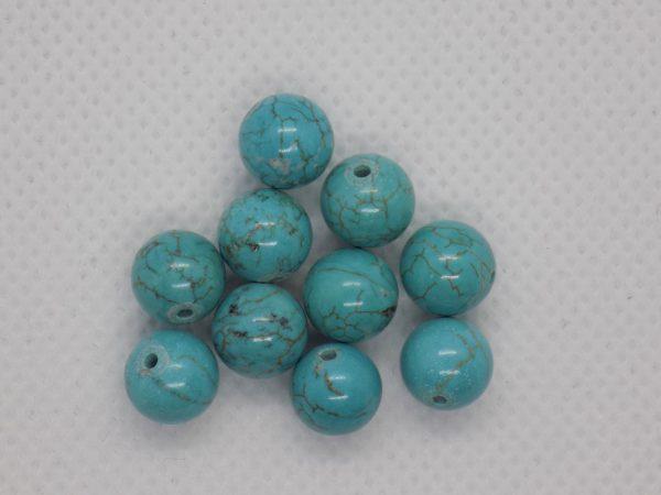 Turquoise bleu perle naturelle