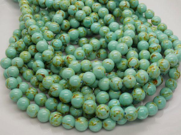 Turquoise du Tibet perle naturelle