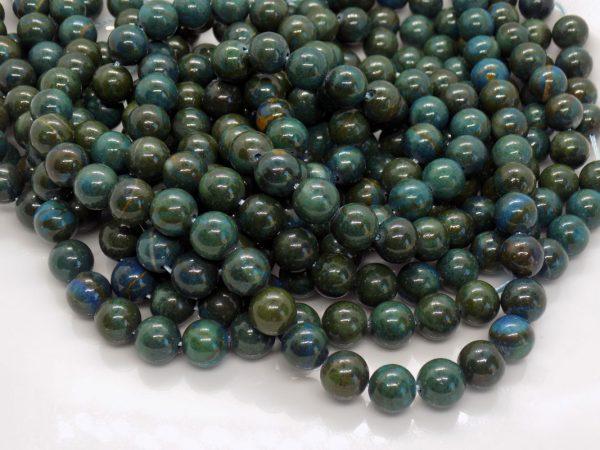 Apatite verte foncée perle et creation