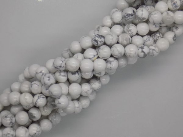 Howlite Naturelles noir et blanc perle et creation