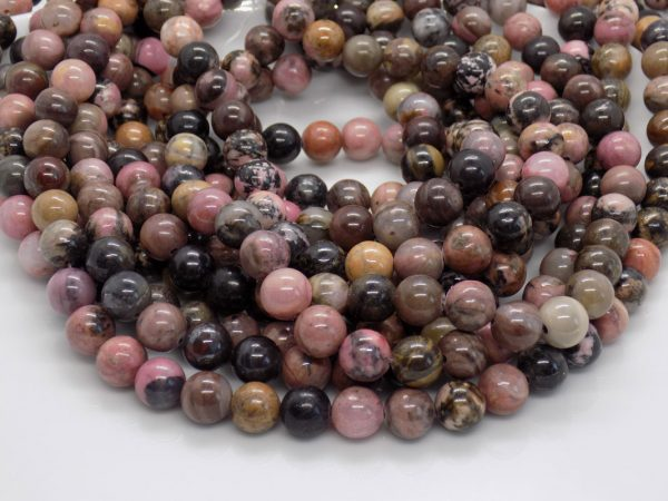 Rhodonite perle naturelle