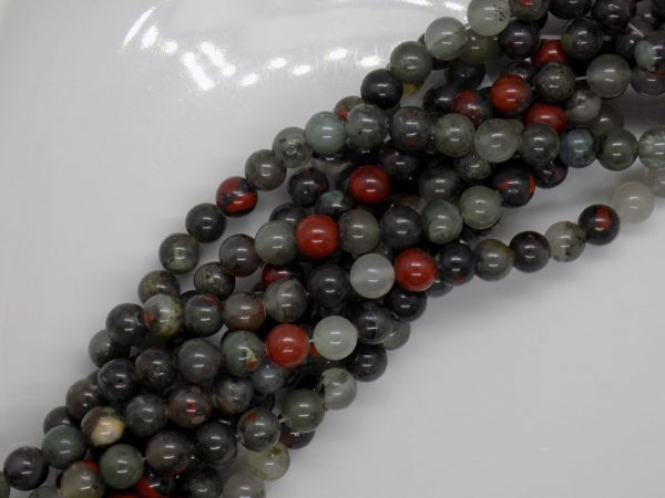 Jaspe vert naturelle perle et creation