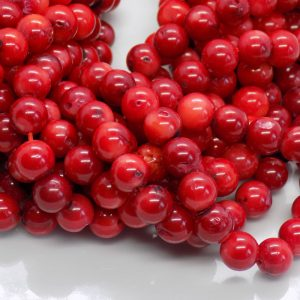 perles corail rouge naturel