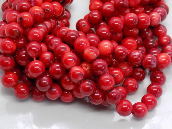 perles corail rouge naturel