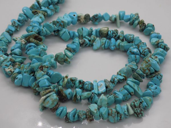 Turquoise perles chips