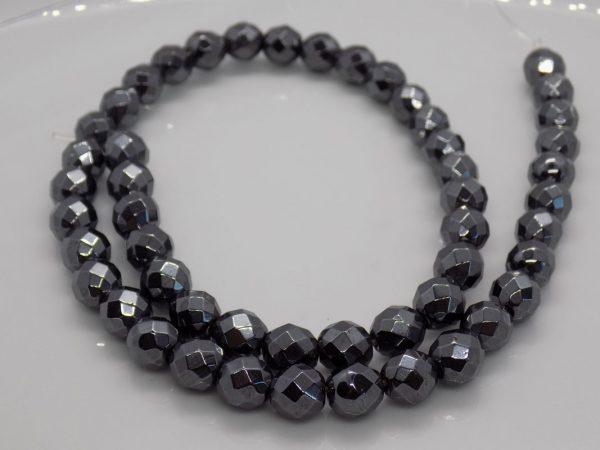 Perle hematite à facette perle et creation