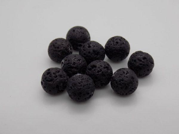 Perles de Lave Volcanique noir