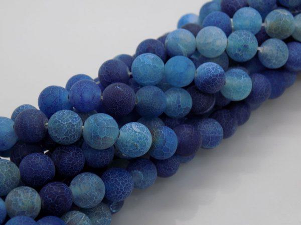 agate givré bleu perle et creation