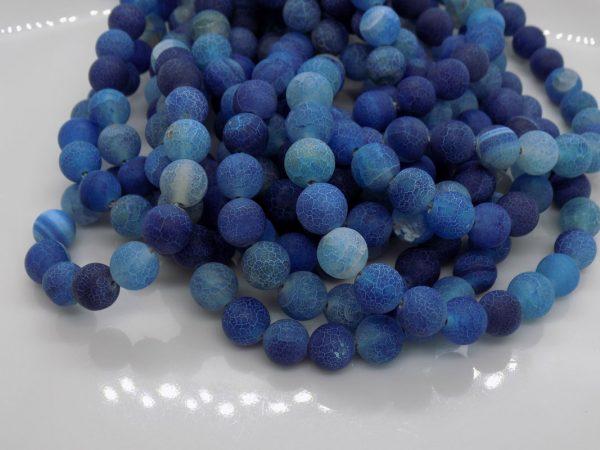 agate bleue givré perle et creation