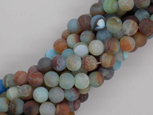 Agate indienne verte et marron perle et creation