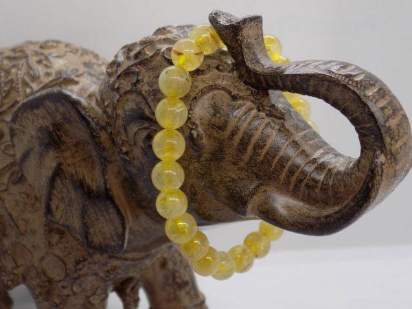 Bracelet perle de Quartz Rutile