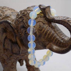 bracelet perle opale transparente