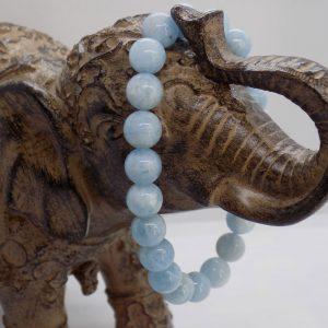 Bracelet perle Aigue marine
