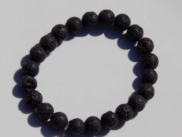 bracelet perle de lave volcanique
