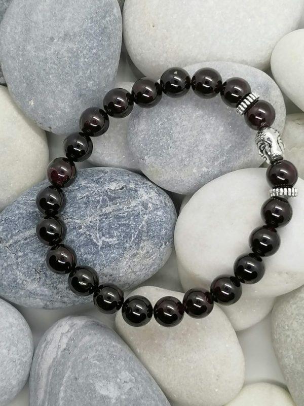 bracelet bouddha grenat naturel